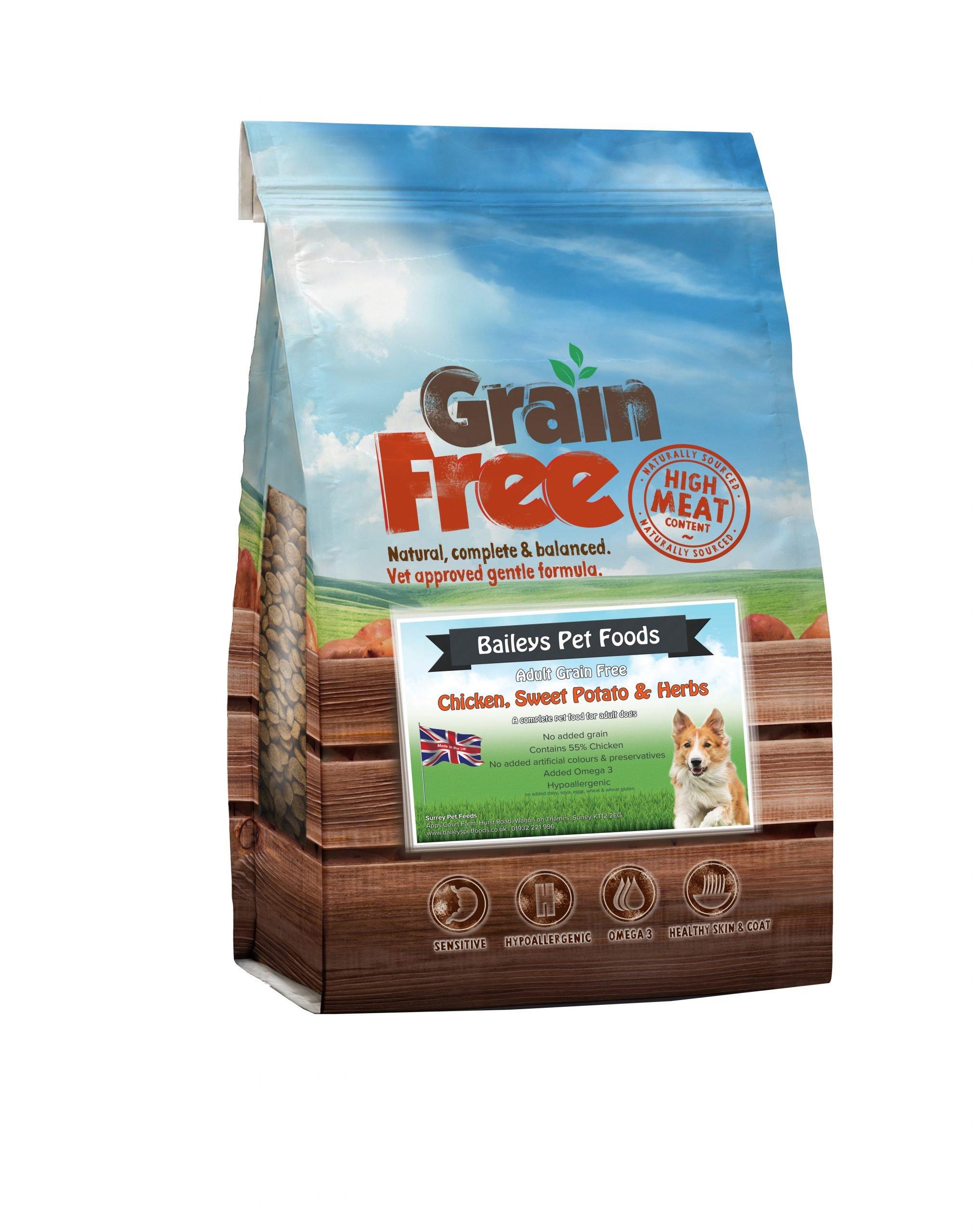 Baileys Pet Foods - Chicken Sweet Potato and Herbs - Bag Images